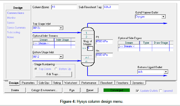 chemical-engineering-process-technology-Hysys-column