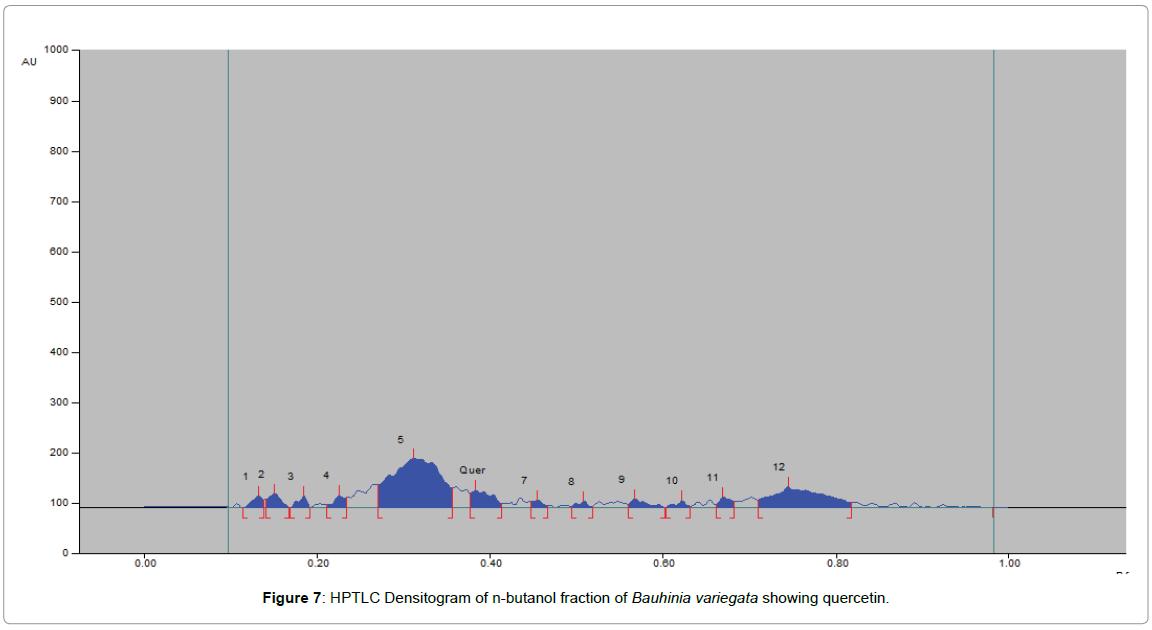 chromatography-separation-techniques-Densitogram-dichloromethane-fraction