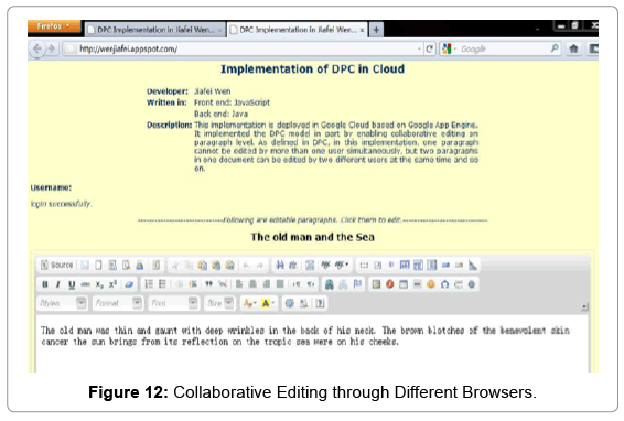 Implementation of a Collaborative Document Processing in the
