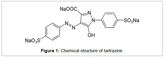 environmental-analytical-chemistry-Chemical-structure-tartrazine