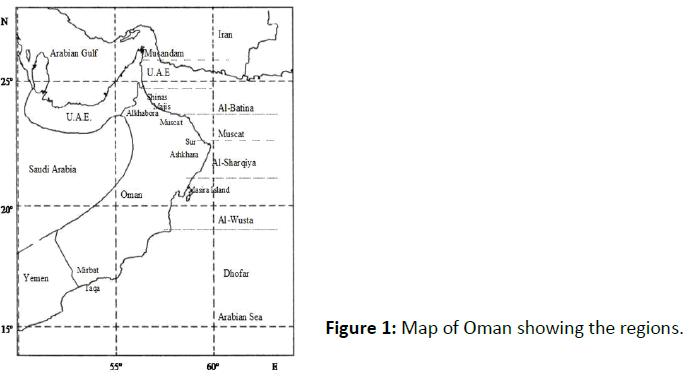 fisheries-aquaculture-Map-Oman-showing