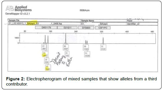 forensic-research-Electropherogram-mixed-samples
