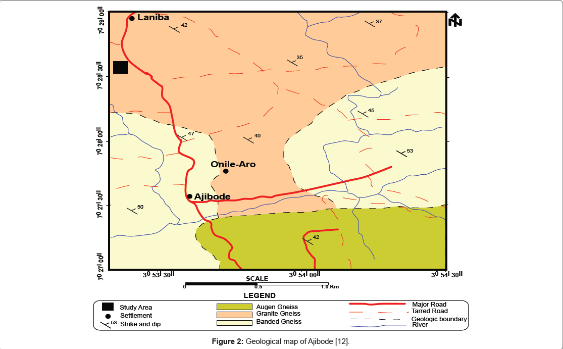 PApplication Of Electrical Resistivity And Ground Penetrating - Ilesa map