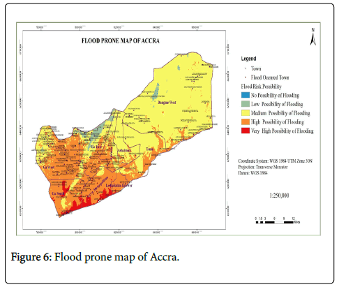 Accra Flood Modelling through Application of Geographic Information