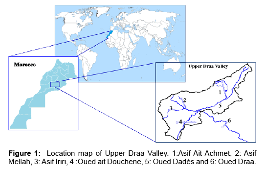 global-journal-technology-optimization-Location-map-Upper-Draa-Valley