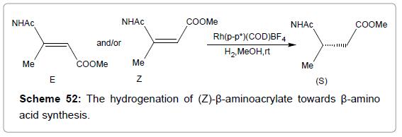 medicinal-chemistry-hydrogenation-aminoacrylate-synthesis