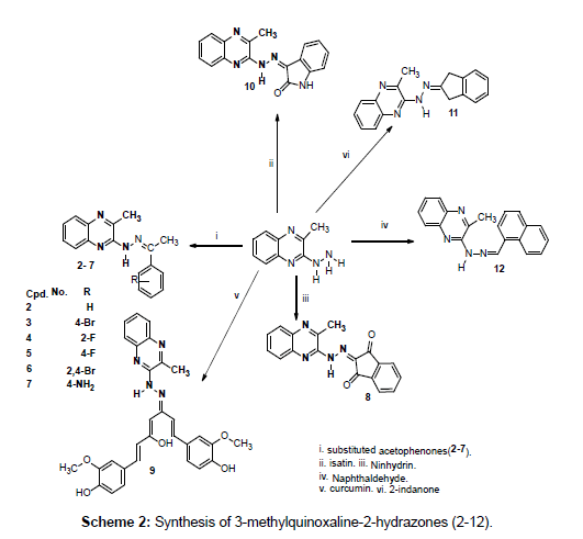 organic-chemistry-current-research-methylquinoxaline-hydrazones