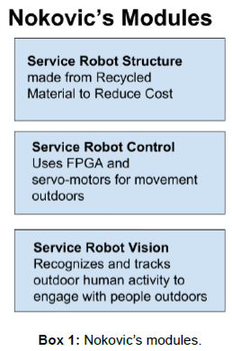 A Low Cost Outdoor Service Robot