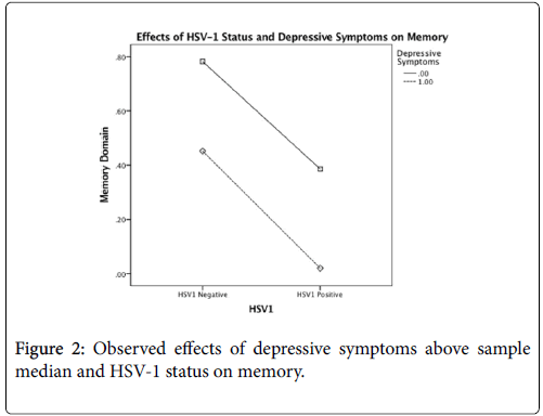 Depressive Symptoms Exacerbate the Effects of HSV-1 Infection on