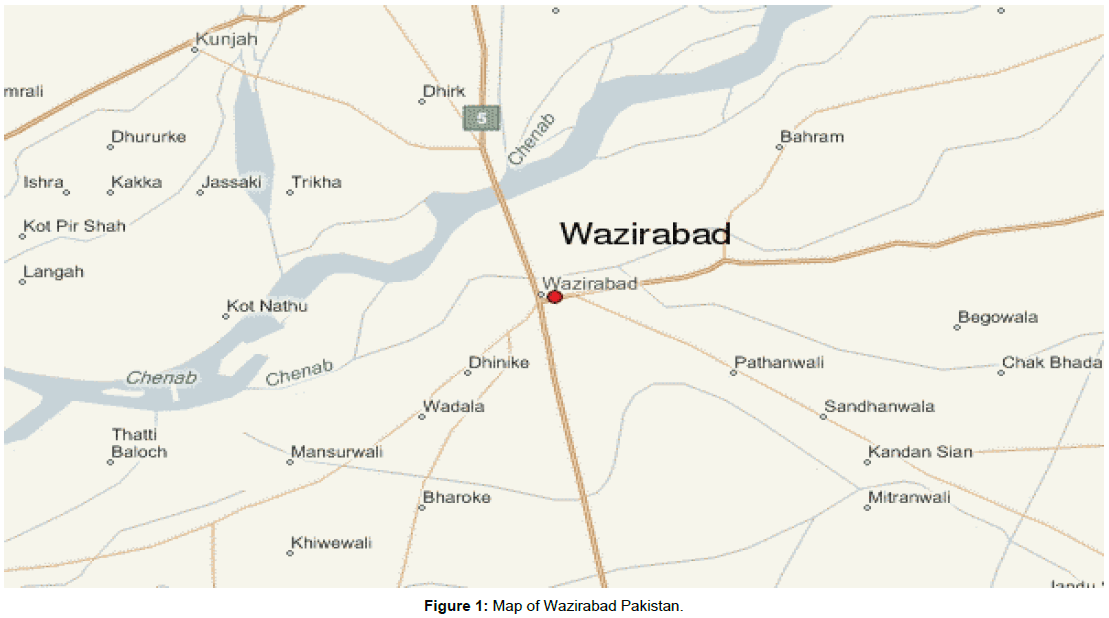 gujranwala pakistan map